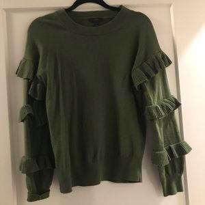 J crew ruffle sleeve sweater